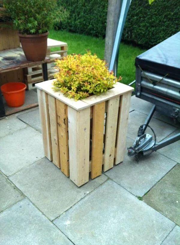 Diy easy pallet planter box 99 pallets