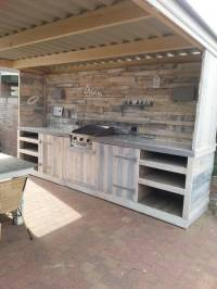 Make a Pallet Kitchen for Outdoor | 99 Pallets