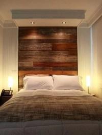 DIY Pallet Wall Headboard Design