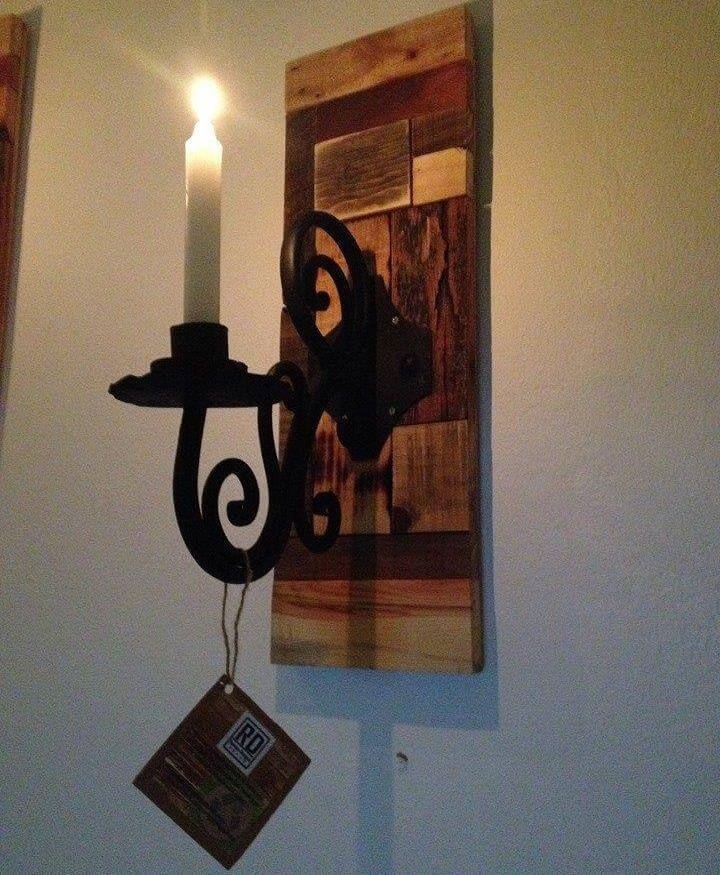 Reclaimed pallet wall candle holders 99 pallets
