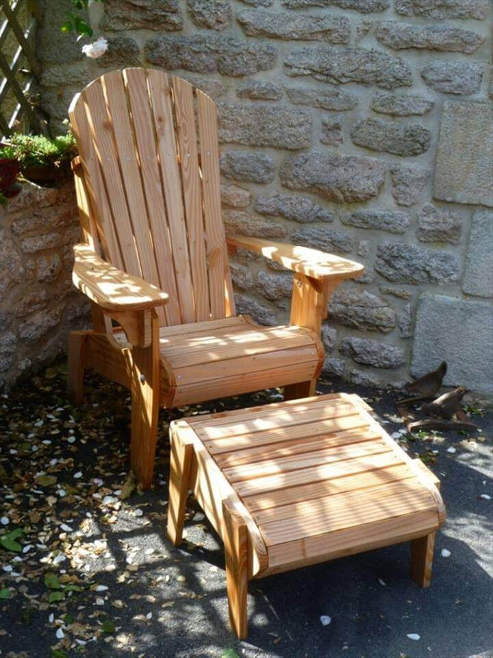 Pallet Adirondack Style Patio Furniture Set 99 Pallets
