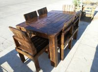 Wooden Pallet Dining Table and Chairs Set | 99 Pallets
