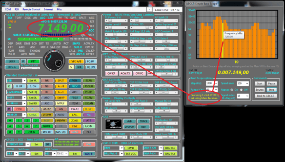 GBCAT_v1.3_Band.Scope.on.HF.1-click.VFO.FQ.set