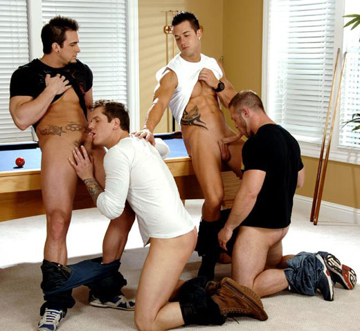 Gay Foursome with Two Couples