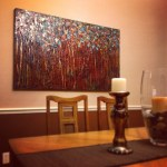 """Light Through Darkness 36X60"" as shown in client's dining room"