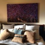 """Walk with me"" 30X60"" shown in Doug & Caryn's Orlando home"