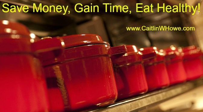 Save money, gain time, eat healthy: Cook your meals in bulk
