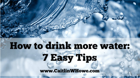 How to Drink More Water Title