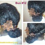 natural hair bun
