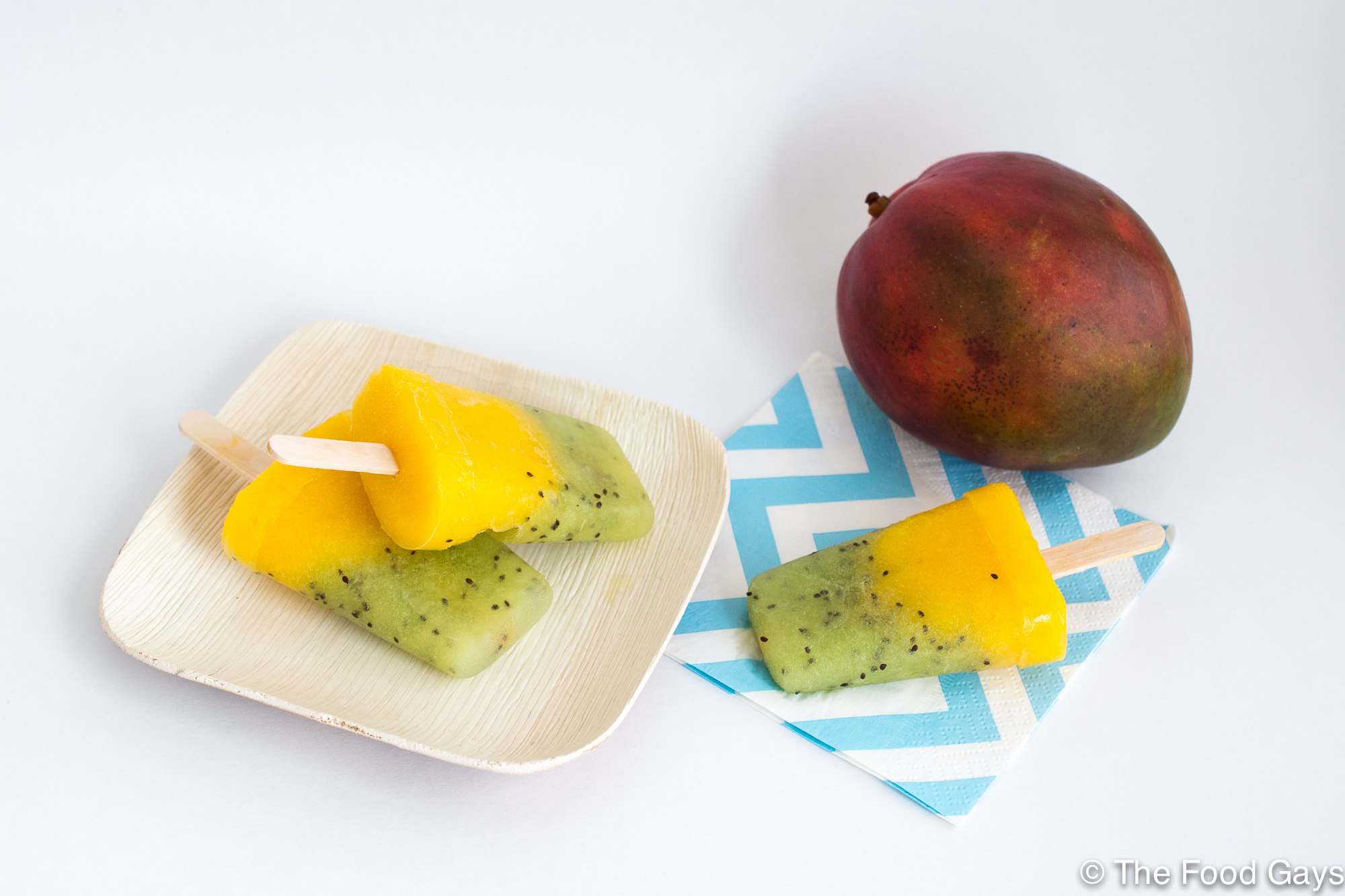 Mango Kiwi Popsicles with ONE Coconut Water