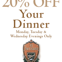El Serrano Restaurant: 20% Off Coupon