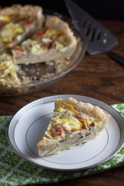 proscuitto and artichoke quiche-3