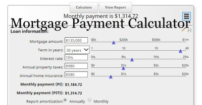Mortgage Calculator with Taxes and Insurance PITI | MLS Mortgage