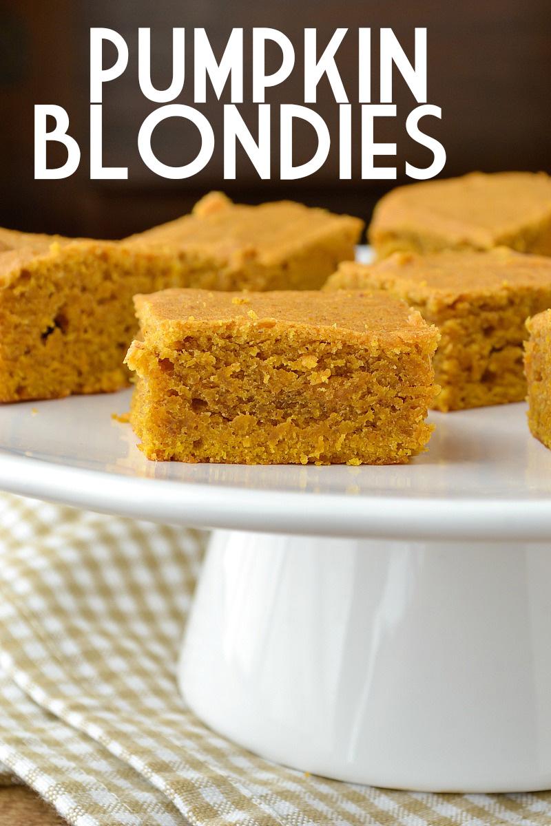 Pumpkin Blondies | www.motherthyme.com