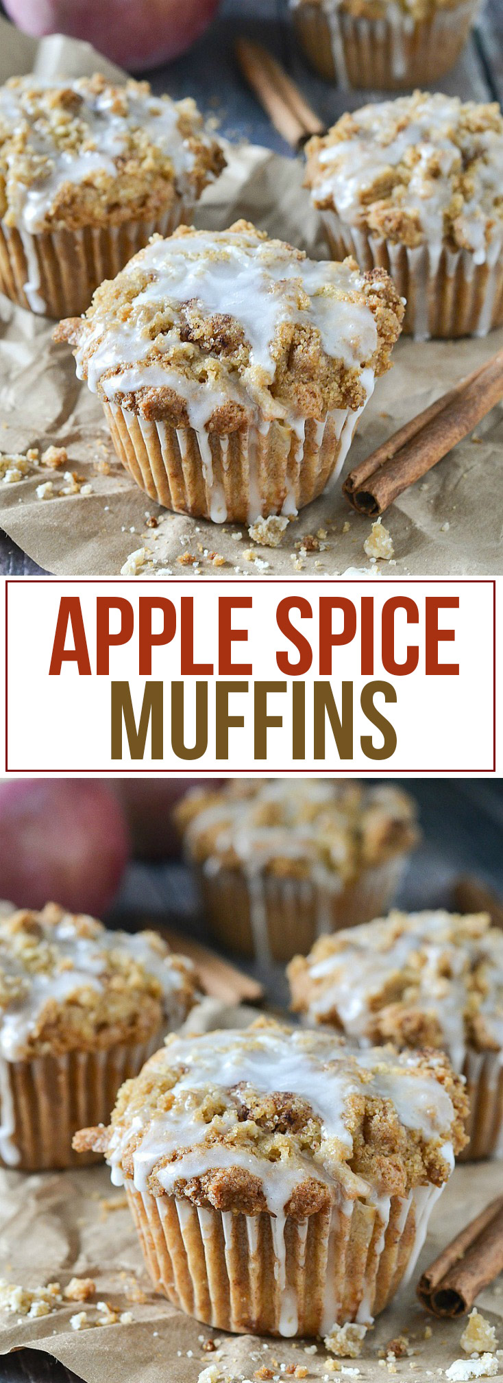 Apple Spice Muffins from www.motherthyme.com
