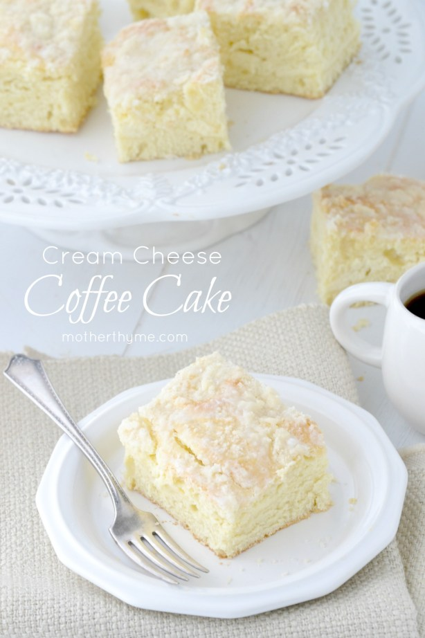 Cream Cheese Coffee Cake - www.motherthyme.com