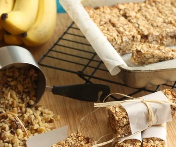Banana Nut Bread Granola Bars