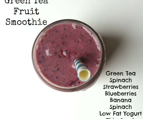 Green Tea Fruit Smoothie