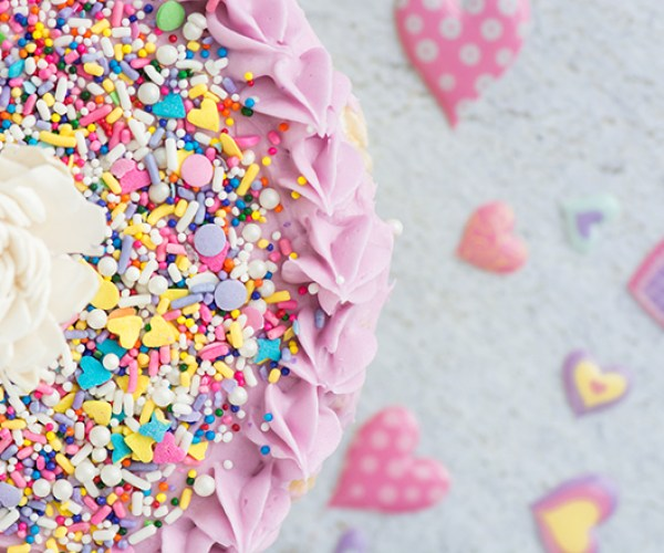 Cake Batter Rice Crispy Treat Cake