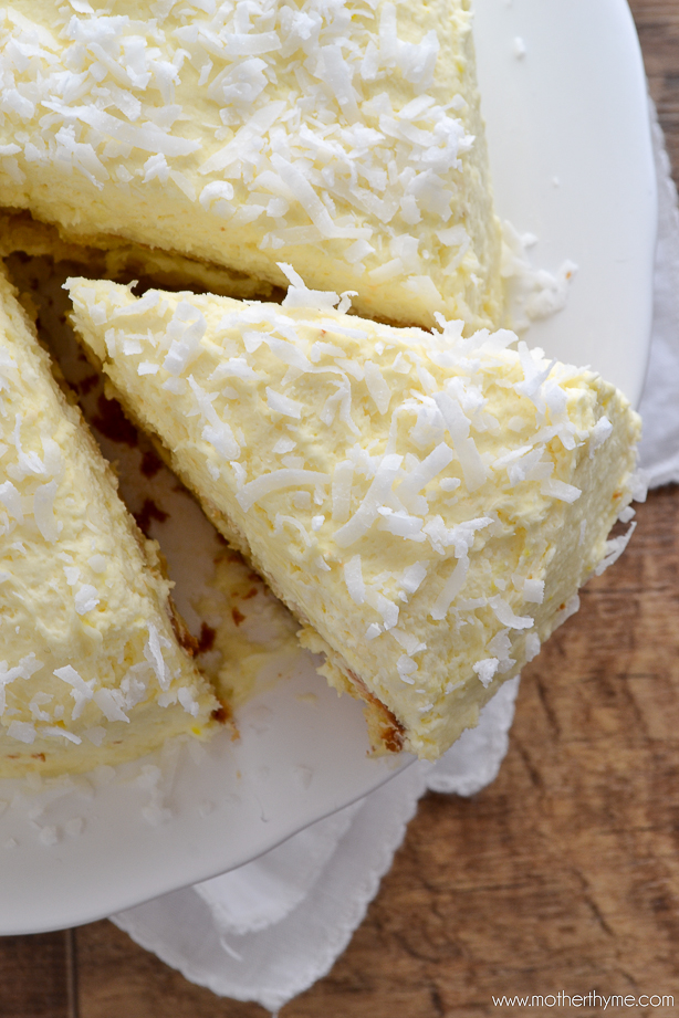 Coconut Cream Cake with Coconut Cream Frosting from www.motherthyme ...