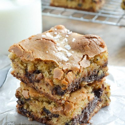 Salted Chocolate Chunk Congo Bars