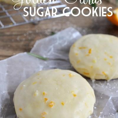 Golden Citrus Sugar Cookies