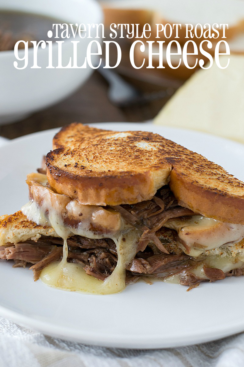 Tavern Style Pot Roast Grilled Cheese | www.motherthyme.com