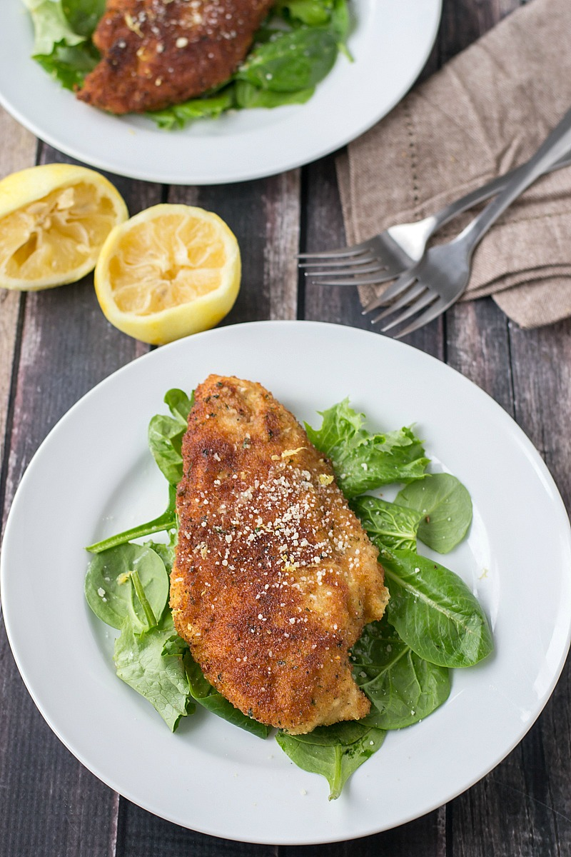 Chicken Milanese with Lemon Butter Sauce