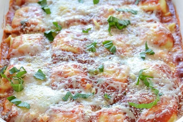 Baked Tomato Basil Ravioli