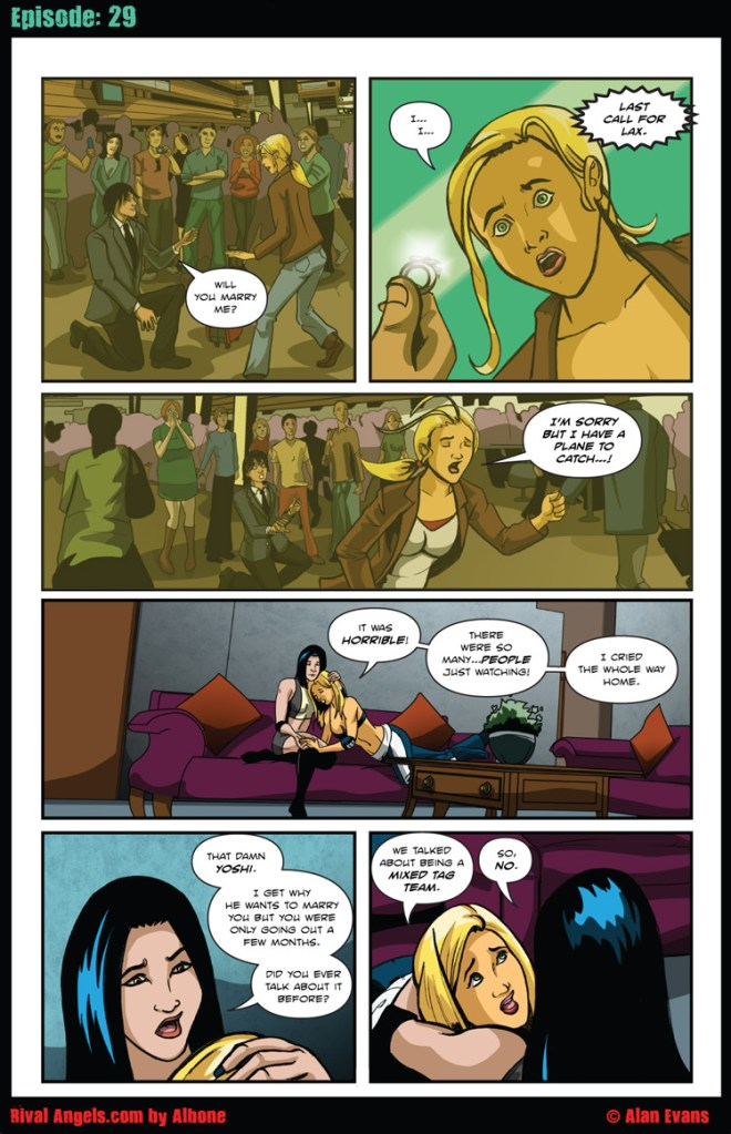 Sabrina spills about Yoshi's impassioned airport marriage proposal.