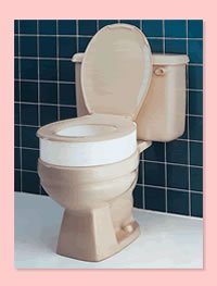 This Carex elevated Toilet seat works great for an elderly relative and can easily be used by the whole family