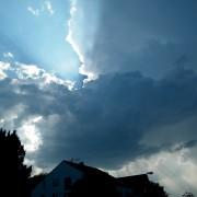 Dramatische Cumulusnimbus Wolken über Pforzheim
