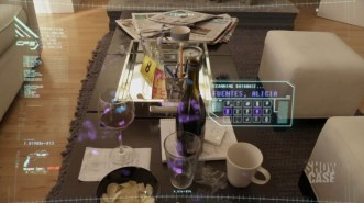 Continuum's Kiera uses her HUD display.