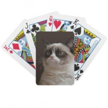 zazzle grumpy cat playing cards