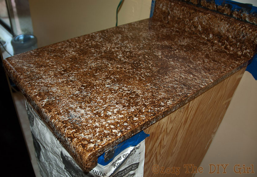 Giani Countertop Paint Chocolate Brown : 70 Countertop Fix - Giani Granite Paint Part 1 - TheDIYGirl.com