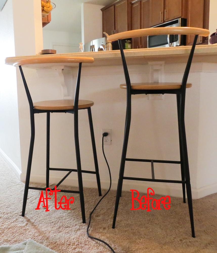 Diy Kitchen Bar Stools: Cutting Metal Bar Stool Legs