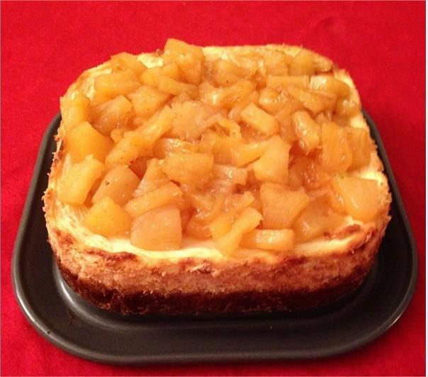 cheesecake au fromage frais lait de coco coulis de fruits rouges chez titval. Black Bedroom Furniture Sets. Home Design Ideas