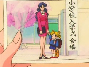 Ikuko and six year old Usagi