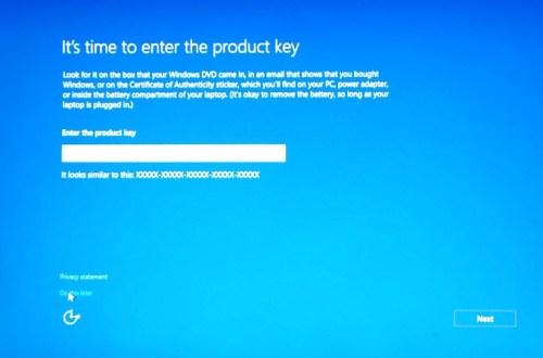 windows 10 enter product key