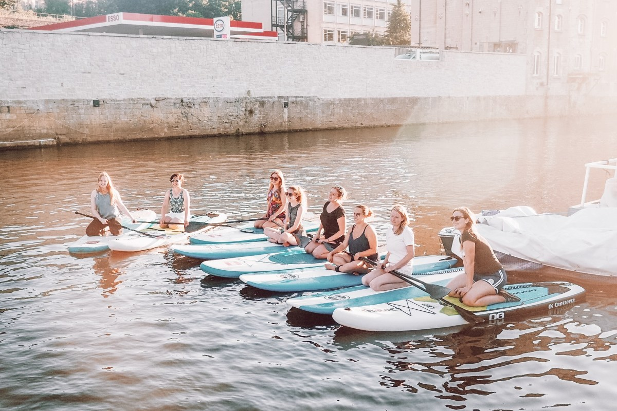 Paddle boarding with Original Wild, Bath