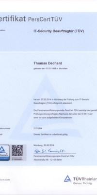 TÜV Zertifikat IT-Sicherheit IT-Security