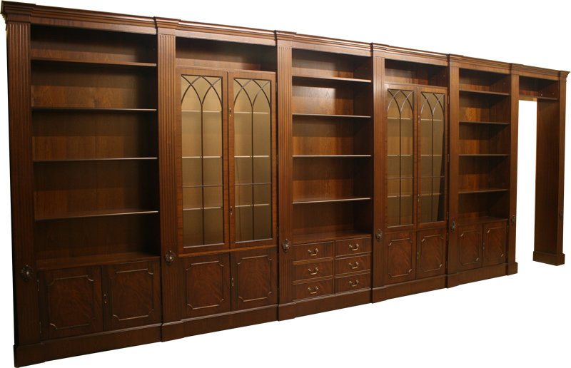 Fine Quality Yew And Mahogany Reproduction Combination