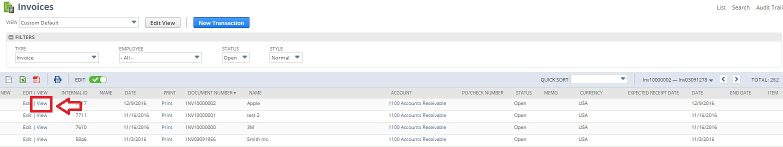 How to create a customer receipt in NetSuite