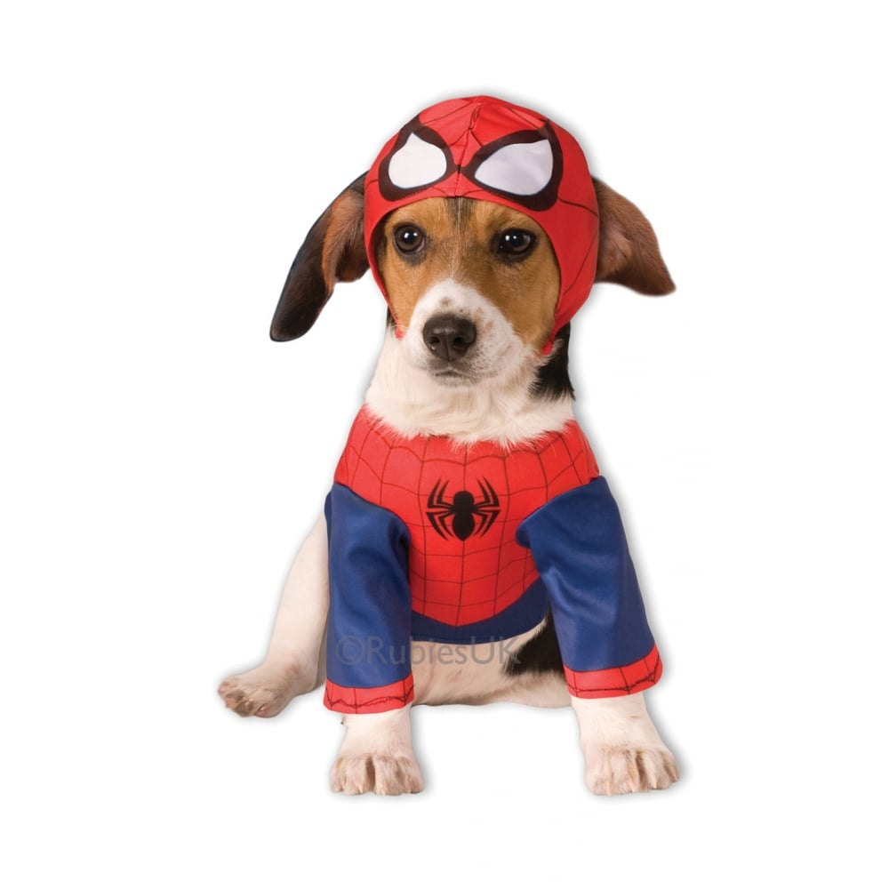 PET DOG PUPPY SUPERHERO FANCY DRESS COSTUME COAT HALLOWEEN