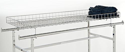 Rack Topper Shelf For Double Bar Garment Racks