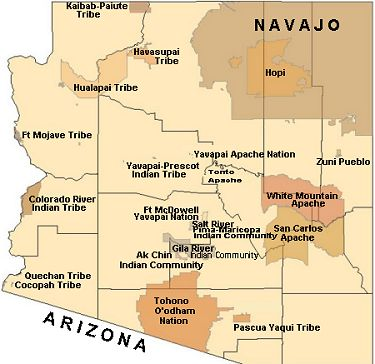 Arizona Tribal Map Google Image Result for http\/\/www - blank road map