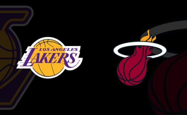 Los Angeles Lakers Vs Miami Heat Americanairlines Arena