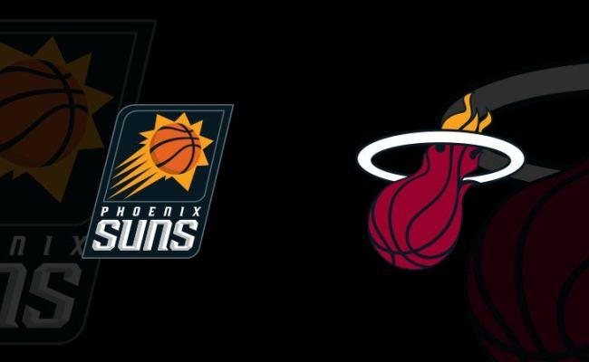 Phoenix Suns Vs Miami Heat Americanairlines Arena