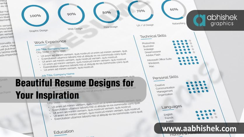 Beautiful resume designs for your inspiration in India