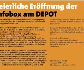 Plakat  Infobox-Eröffnung